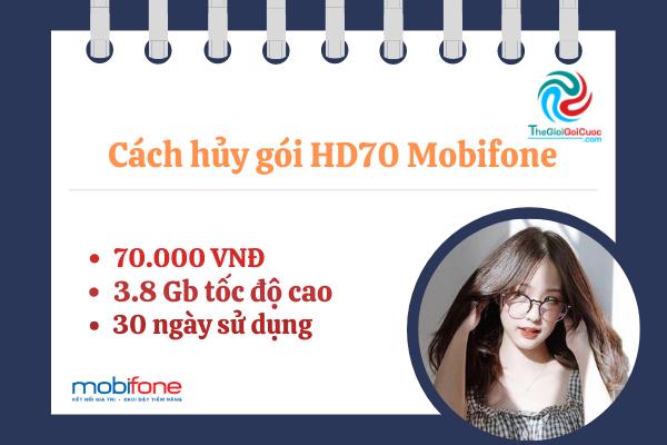 Cách hủy gói HD70 Mobifone.thegioigoicuoc.com
