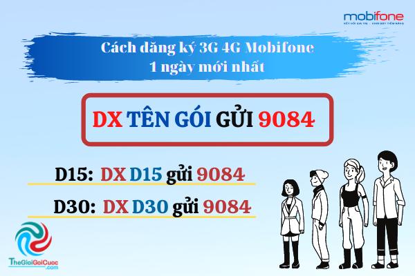 Cách đăng ký 3G 4G Mobifone 1 ngày mới nhất 2020.thegioigoicuoc.com