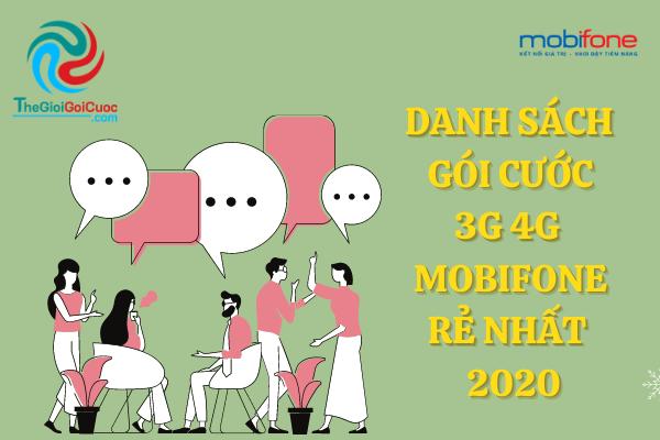 Danh sách gói cước 3G 4G Mobifone rẻ nhất 2020.thegioigoicuoc.com